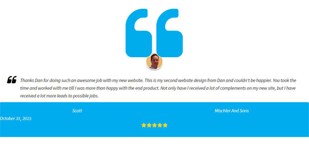 Build trust by displaying acquired customer testimonials