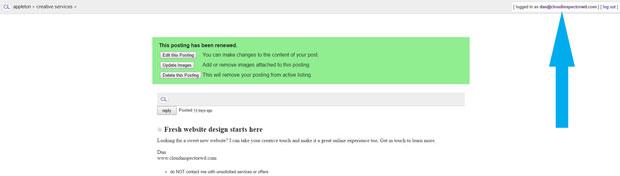 Craigslist advertisement renewal process