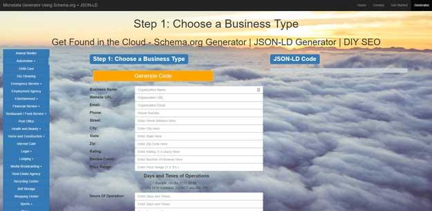 JSON LD schema generator tool