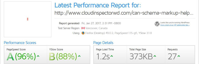 Optimized website test results with a WordPress maintenance service