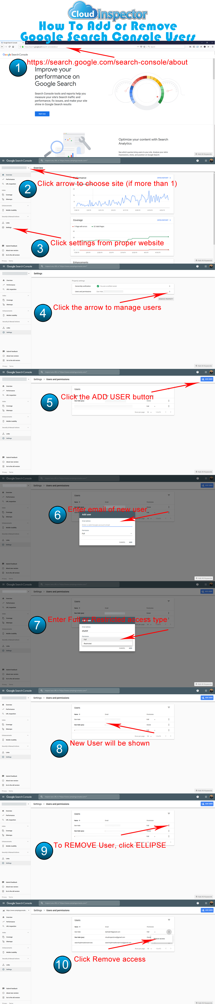 how to add users to Google Search Console